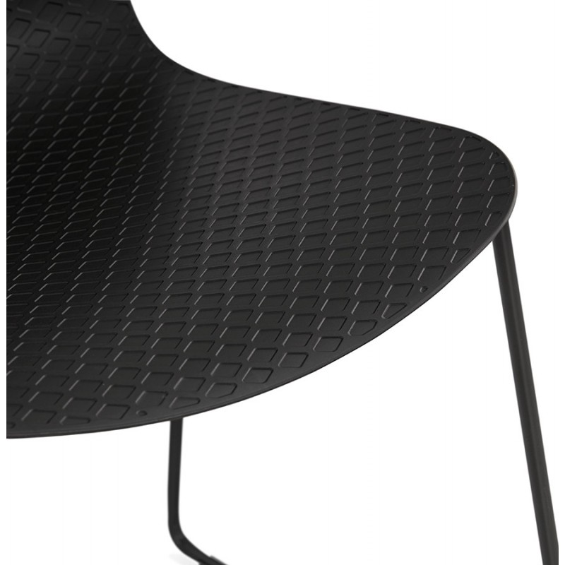 Chaise moderne empilable pieds métal noir ALIX (noir) - image 47920