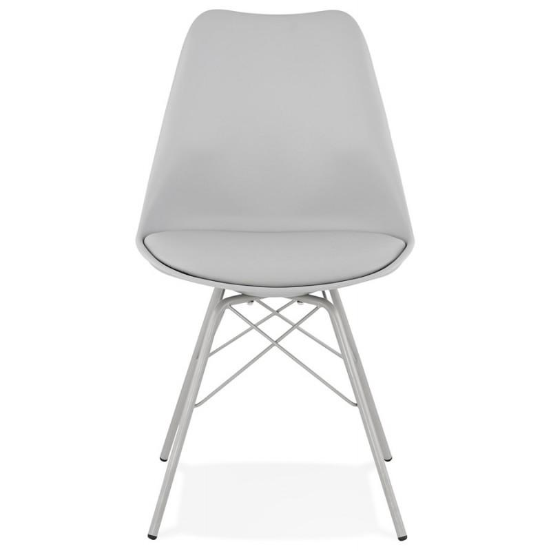 Chaise design style industriel SANDRO (gris clair) - image 47924