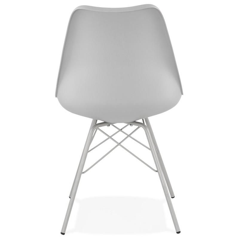Chaise design style industriel SANDRO (gris clair) - image 47927