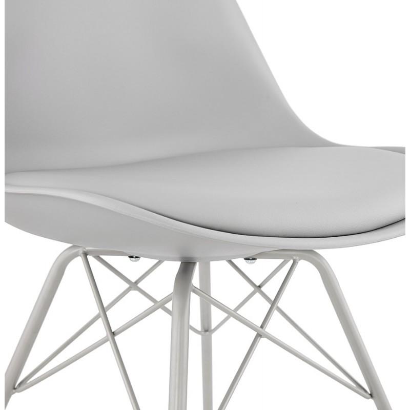 Chaise design style industriel SANDRO (gris clair) - image 47930