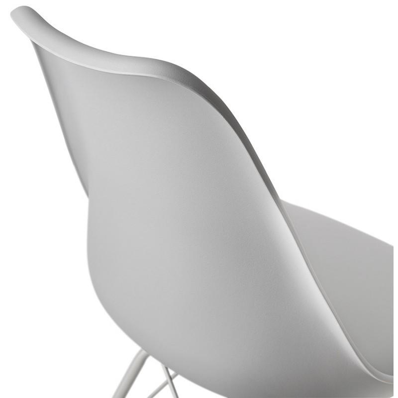 Chaise design style industriel SANDRO (gris clair) - image 47931