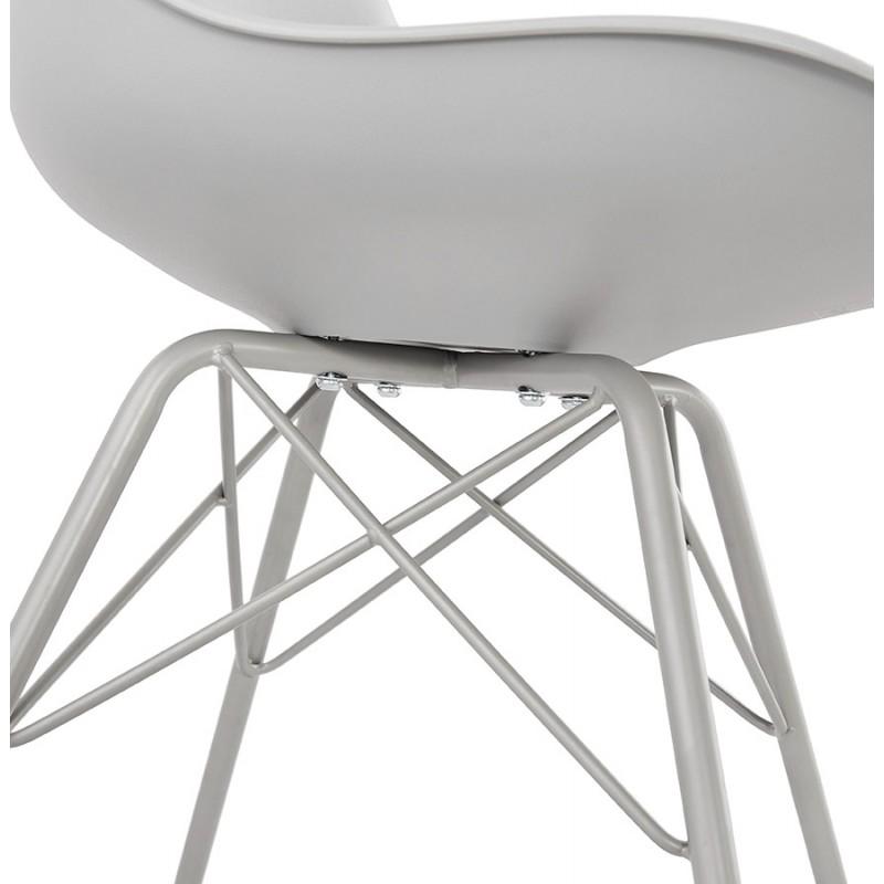 Chaise design style industriel SANDRO (gris clair) - image 47932
