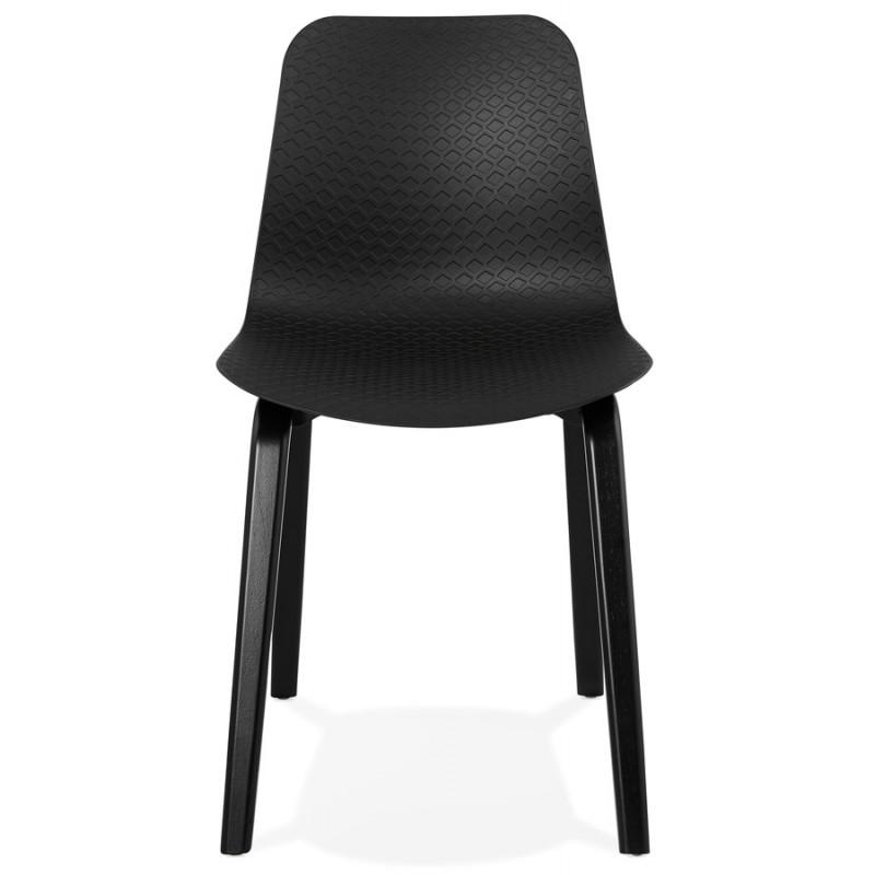 Silla de diseño de pie de madera negra sandy (negro) - image 47965