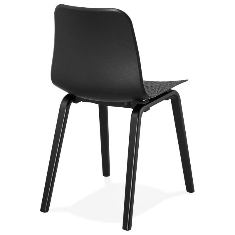 Silla de diseño de pie de madera negra sandy (negro) - image 47967