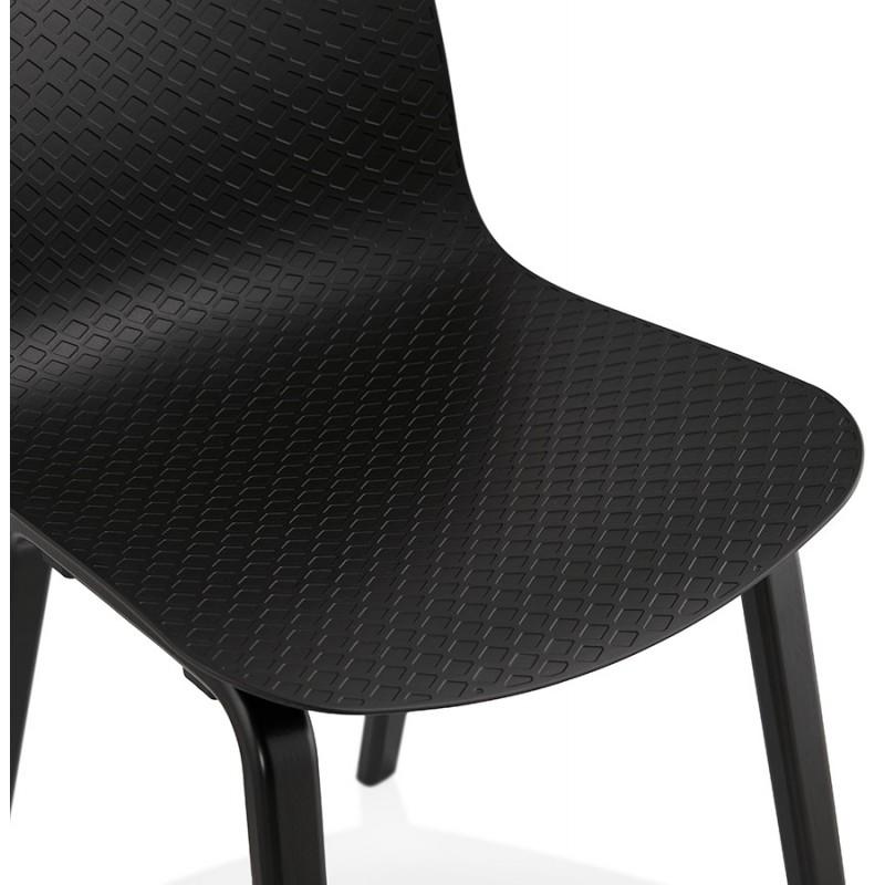Silla de diseño de pie de madera negra sandy (negro) - image 47970