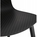 Chaise design pieds bois noir SANDY (noir)