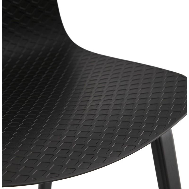 Chaise design pieds bois noir SANDY (noir) - image 47971