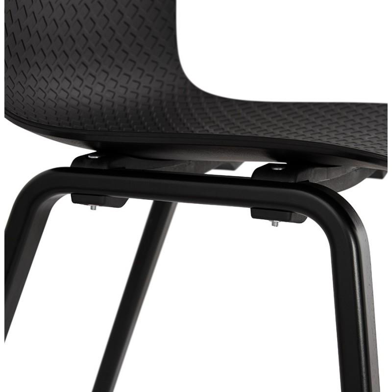 Chaise design pieds bois noir SANDY (noir) - image 47972