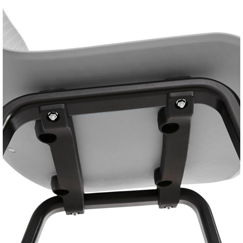Chaise design pieds bois noir SANDY (gris clair) - image 48004
