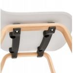 Skandinavische Design Stuhl Holz Fuß natürliche Oberfläche SANDY (weiß)