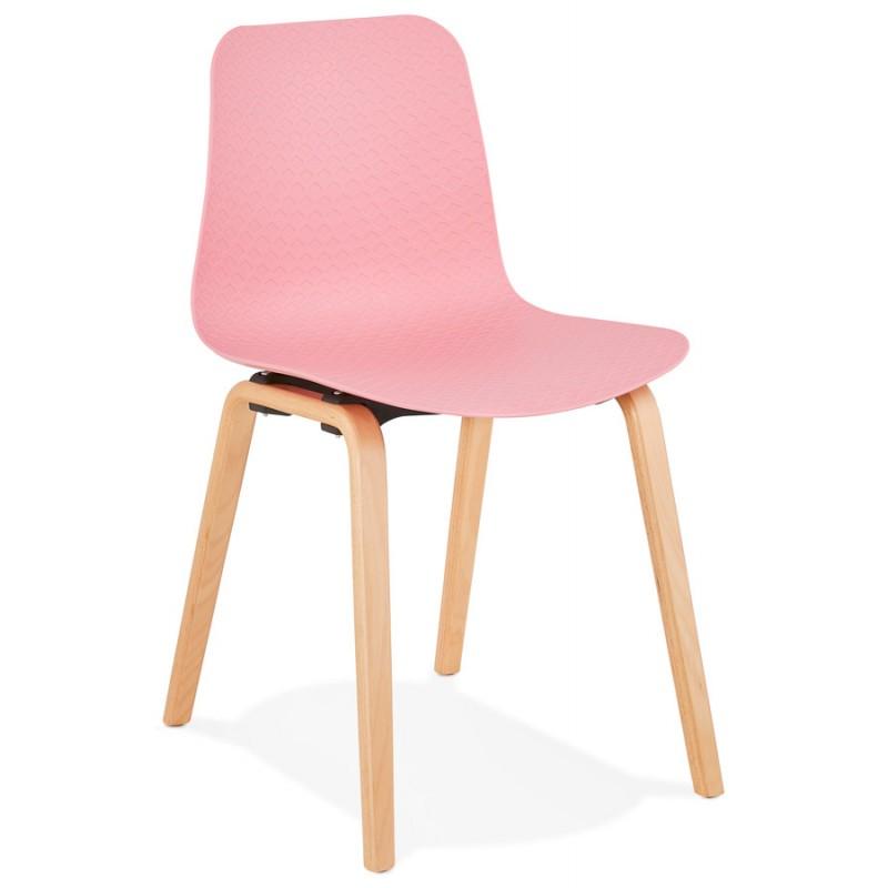 Skandinavische Design Stuhl Fuß Holz natürliche Oberfläche SANDY (rosa) - image 48023
