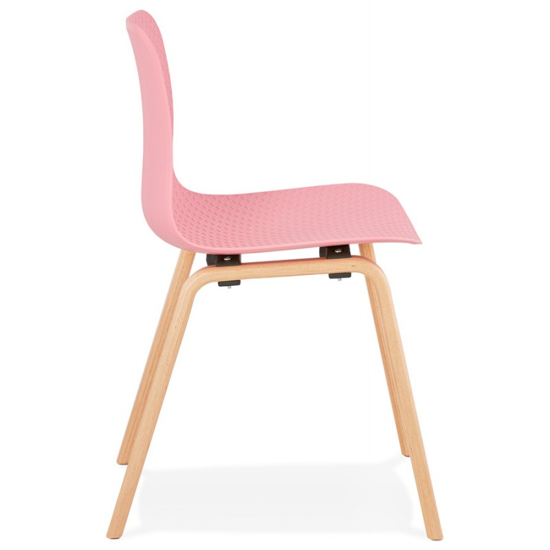 Sedia scandinava piede piede legno finitura naturale SANDY (rosa) - image 48025