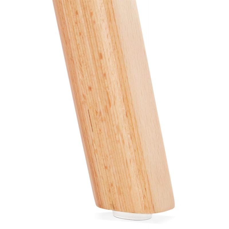Chaise design scandinave pied bois finition naturelle SANDY (rose) - image 48036