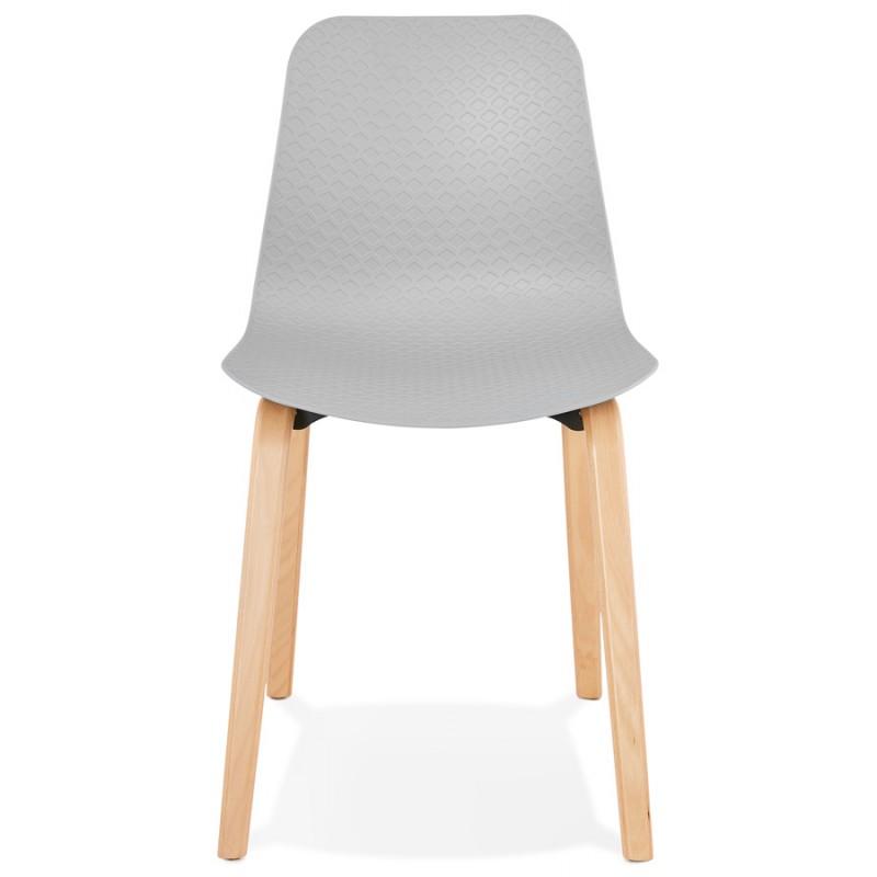 Stuhl Design skandinavischen Fuß Holz natürliche Oberfläche SANDY (hellgrau) - image 48054