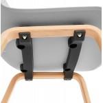 Chair design Scandinavian foot wood natural finish SANDY (light grey)