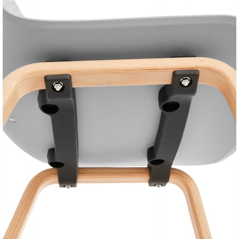 Chair design Scandinavian foot wood natural finish SANDY (light grey) - image 48063