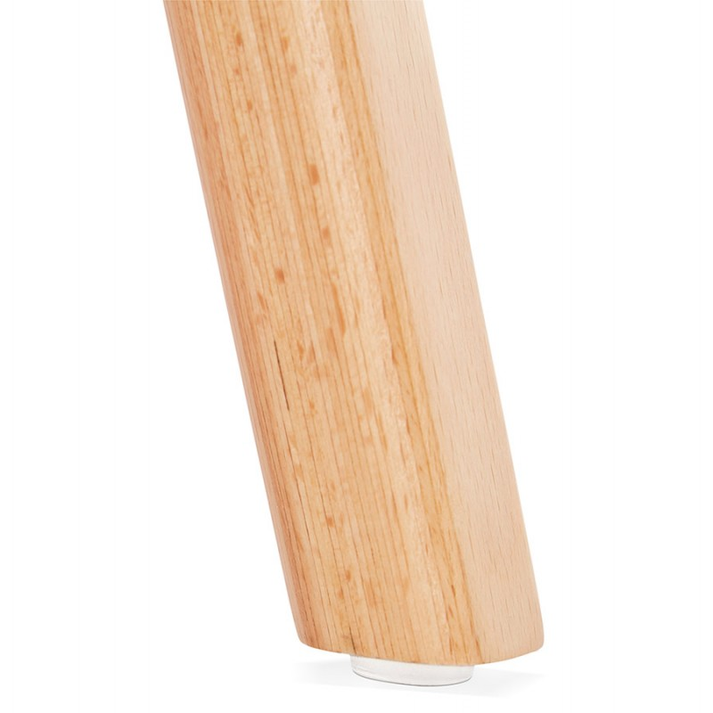 Silla de diseño escandinavo pie de madera acabado natural SANDY (negro) - image 48078