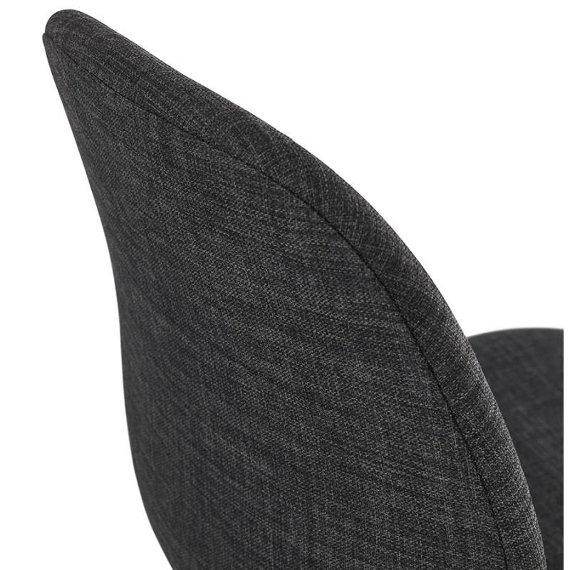 Chaise de bureau sur roulettes en tissu MARYA (gris anthracite) - image 48088