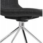 Bürostuhl auf Rädern aus MARYA-Stoff (anthrazitgrau)