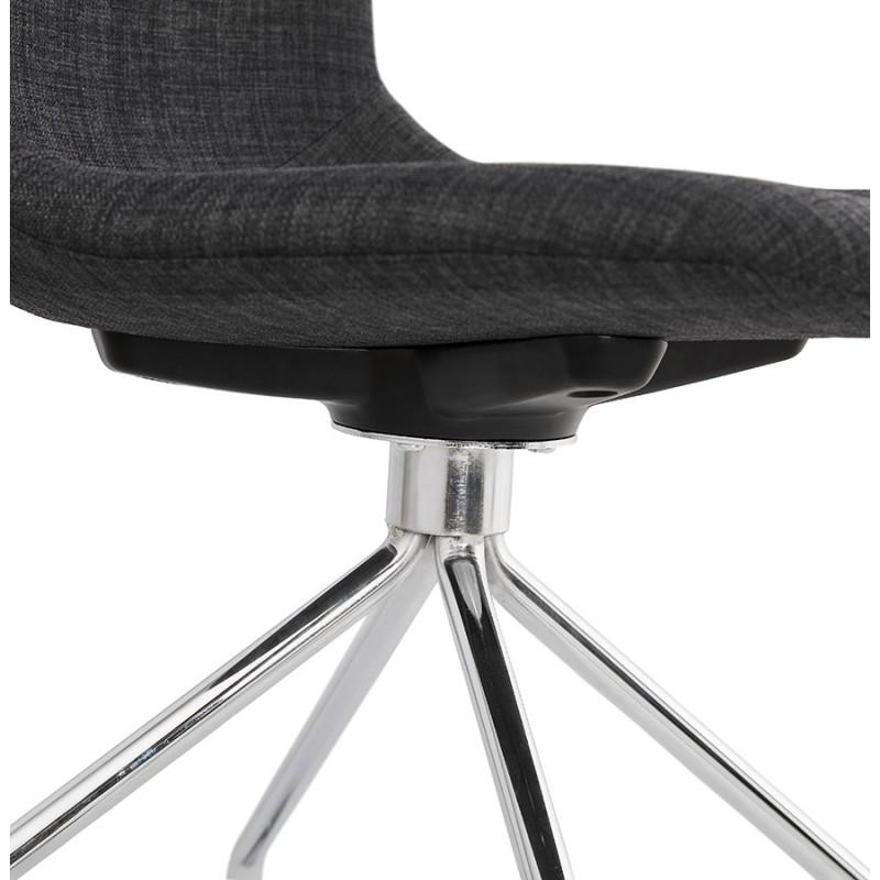 Chaise de bureau sur roulettes en tissu MARYA (gris anthracite) - image 48089
