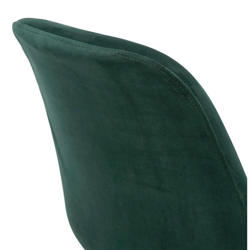 Chaise vintage et rétro pieds noirs et dorés SUZON (vert) - image 48227