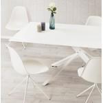 Industriedesign Stuhl Füße weiß Metall MELISSA (weiß)