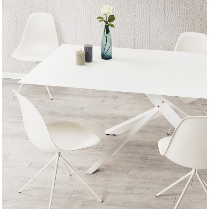 Industrial design chair feet white metal MELISSA (white) - image 48248