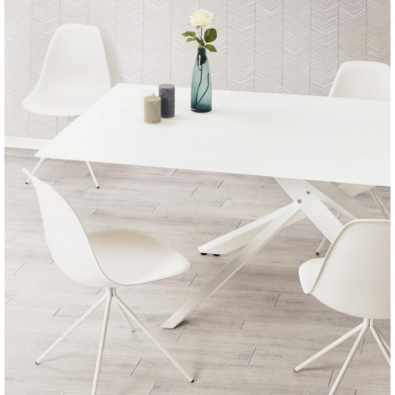 Chaise design industrielle pieds métal blanc MELISSA (blanc) - image 48248