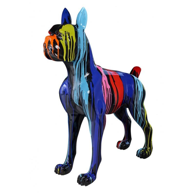 Statue sculpture décorative design CHIEN FUNNY en résine H152 cm (Multicolore) - image 48275