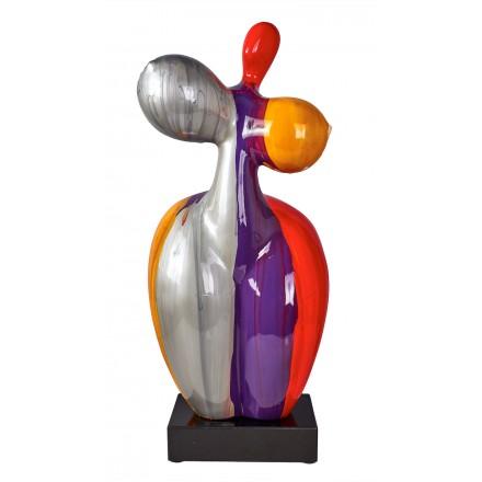 Statue sculpture décorative design FEMME CHARNELLE en résine H61 cm (Multicolore)