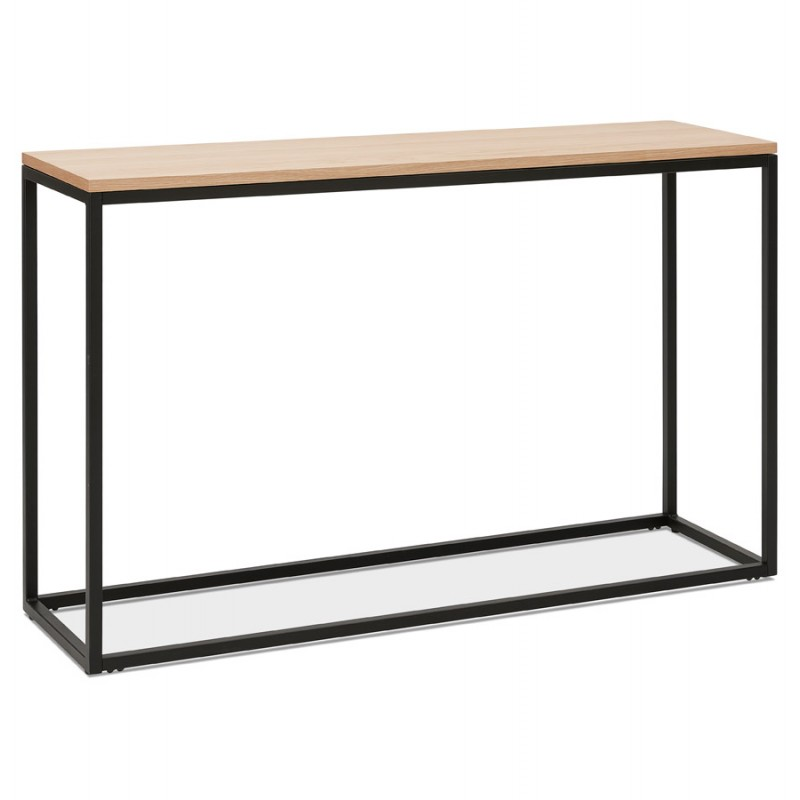 Consola de diseño de madera y metal negro ROSALINE (acabado natural) - image 48360