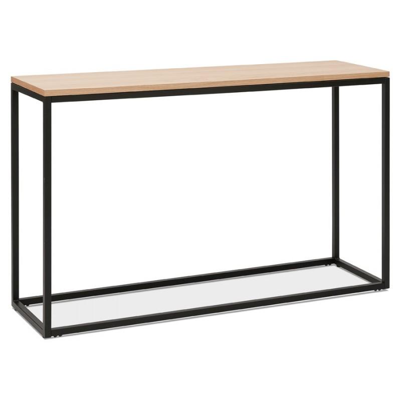 ROSALINE Holz- und Schwarzmetall-Designkonsole (natürliche Ausführung) - image 48360