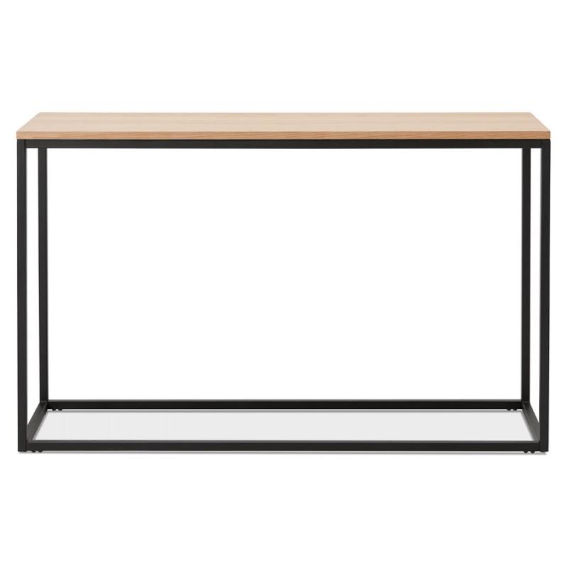 Console design en bois et métal noir ROSALINE (finition naturelle) - image 48361