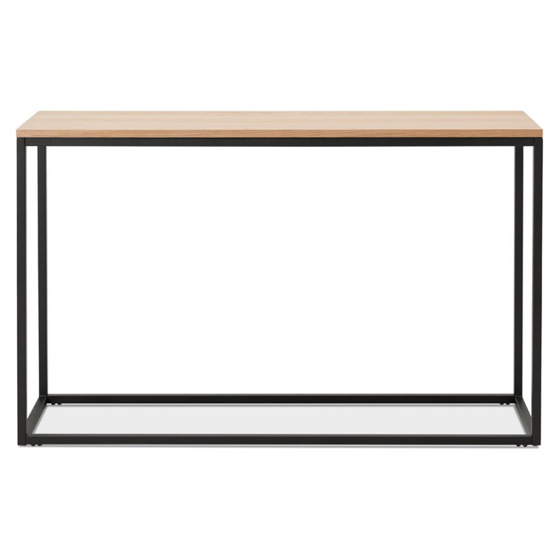 ROSALINE Holz- und Schwarzmetall-Designkonsole (natürliche Ausführung) - image 48361