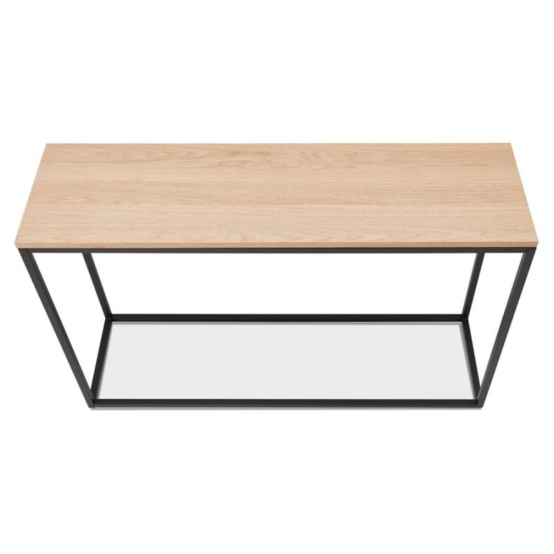 ROSALINE Holz- und Schwarzmetall-Designkonsole (natürliche Ausführung) - image 48362