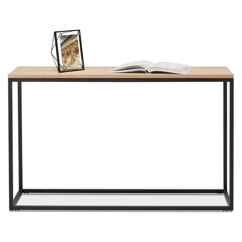 ROSALINE Holz- und Schwarzmetall-Designkonsole (natürliche Ausführung) - image 48366