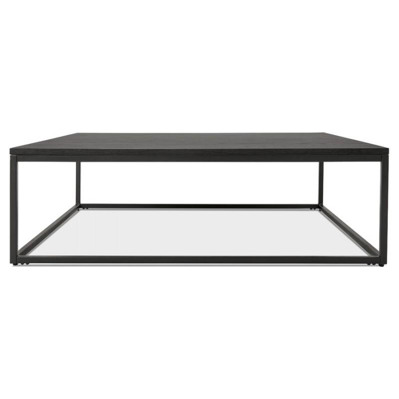 Table basse design industrielle en bois et métal noir ROXY (noir) - image 48369
