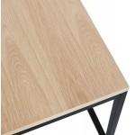 Mesa de centro de diseño de madera y metal negro ROXY (acabado natural)