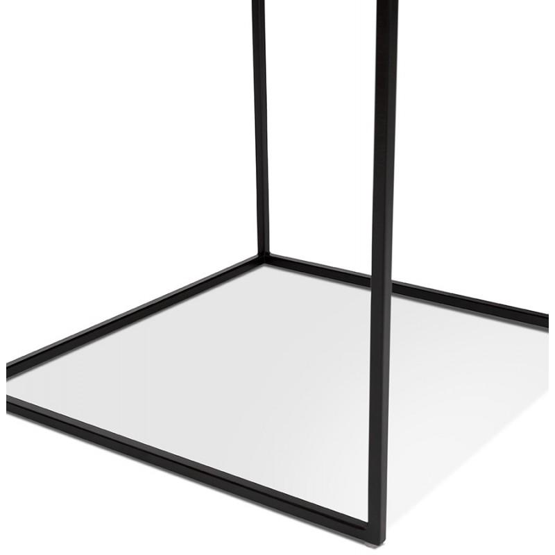 Satz von 3 Tische Gigognes Industriestil in Holz und schwarz Metall ROSY (schwarz) - image 48390