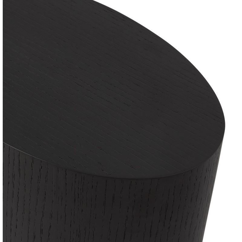 Conjunto de 2 mesas laterales diseño madera russeL (negro) - image 48399