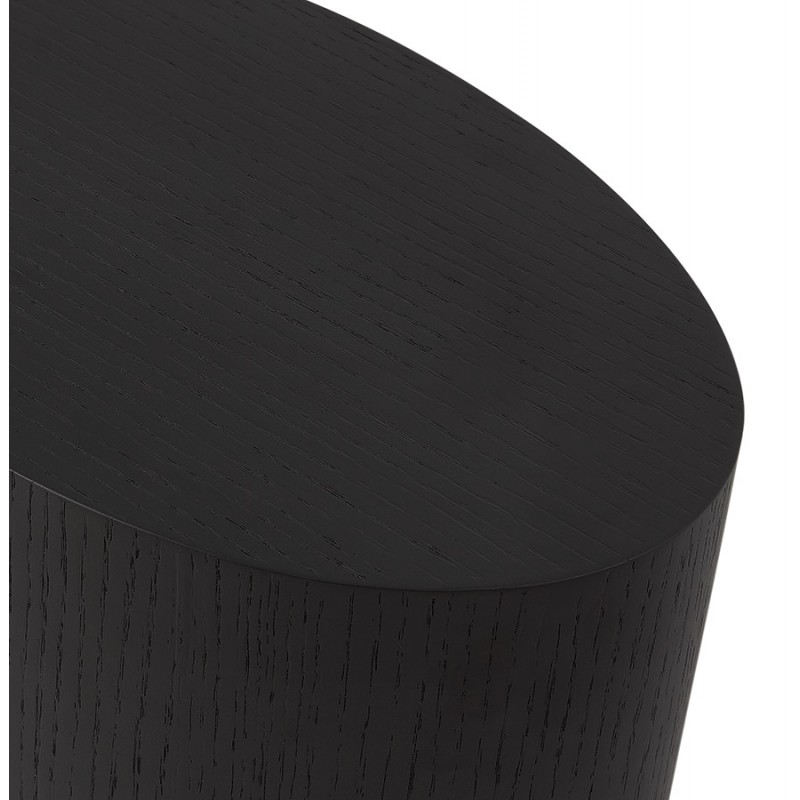 Set von 2 Beistelltischen Design russeL Holz (schwarz) - image 48399
