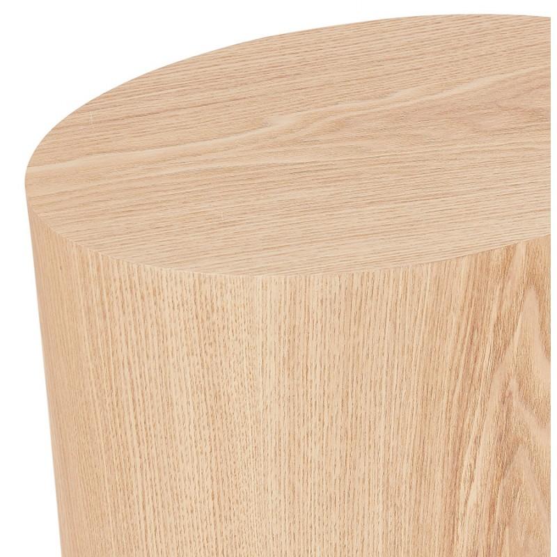 Juego de 2 mesas laterales de diseño de madera RUSSEL (acabado natural) - image 48405