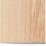 Juego de 2 mesas laterales de diseño de madera RUSSEL (acabado natural)