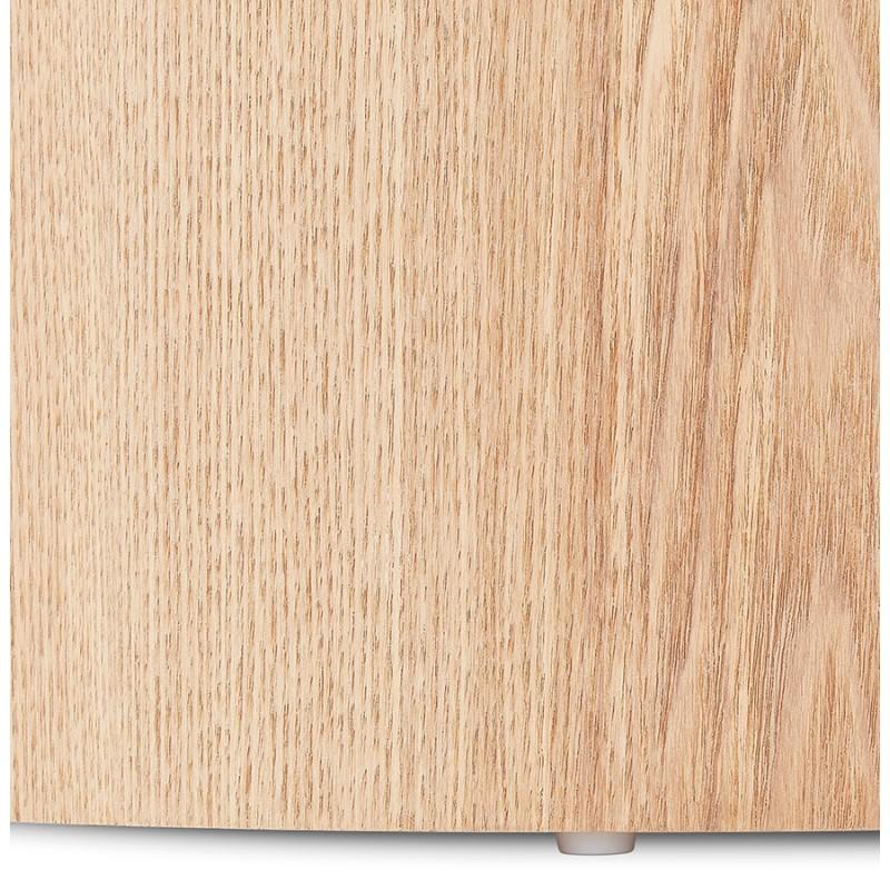 Juego de 2 mesas laterales de diseño de madera RUSSEL (acabado natural) - image 48407