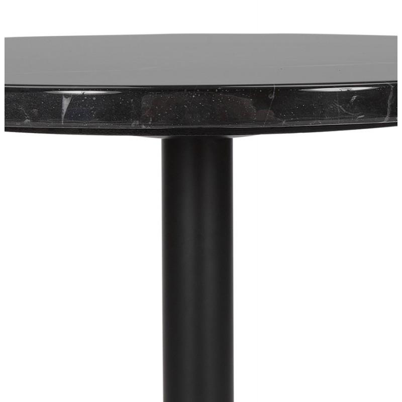 Table d'appoint design ronde en marbre ROXANE (noir) - image 48412