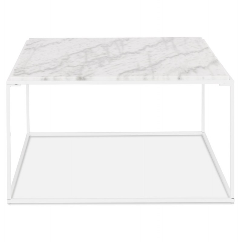 Table basse design en pierre marbrée ROBYN (blanc) - image 48417