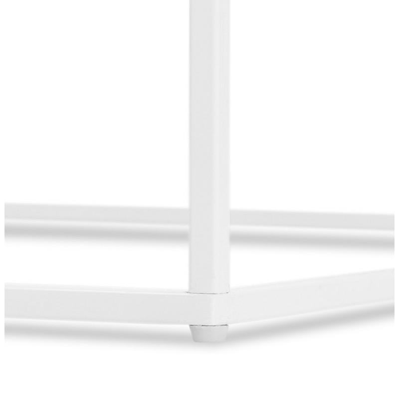 Table basse d'appoint design en pierre marbrée  ROBYN MINI (blanc) - image 48444