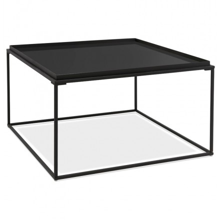 Tavolo da caffè IN vetro e metallo RAQUEL (nero)