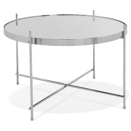 Mesa de centro de diseño, mesa auxiliar RYANA MEDIUM (cromo)