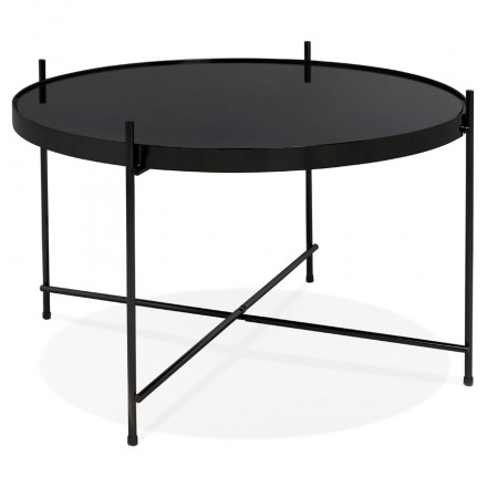 Table basse design, table d'appoint RYANA MEDIUM (noir)